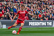 Middlesbrough FC midfielder Stewart Downing in action during the Sky Bet Championship match between Middlesbrough and Fulham at the Riverside Stadium, Middlesbrough, England on 17 October 2015. Photo by George Ledger.