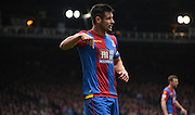 Scott Dann leads from the back during the Barclays Premier League match between Crystal Palace and West Ham United at Selhurst Park, London, England on 17 October 2015. Photo by Michael Hulf.