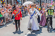 The Queen arrives - The London Pride parade and event in Trafalgar Square.