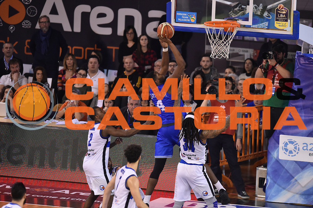 Carter Robert Lawrence <br /> Germani Basket Brescia vs Enel Brindisi<br /> Lega Basket Serie A 2016/2017<br /> Brescia 11032017<br /> Foto Ciamillo-Castoria/G. Ciamillo