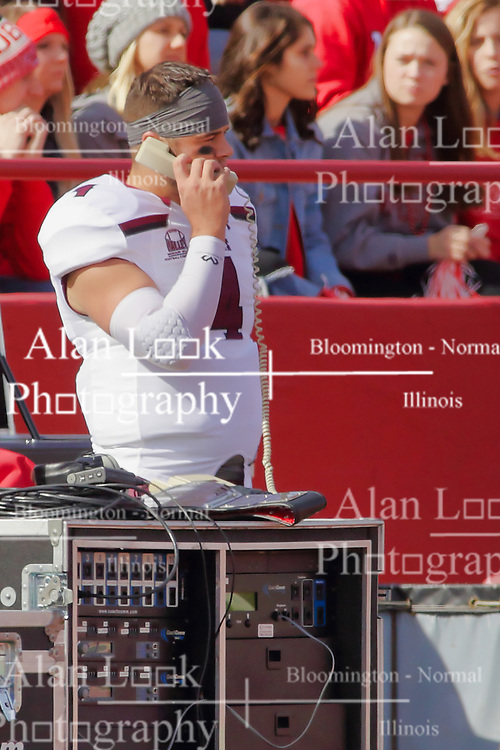 NORMAL, IL - October 13: Sam Straub during a college football game between the ISU (Illinois State University) Redbirds and the Southern Illinois Salukis on October 13 2018 at Hancock Stadium in Normal, IL. (Photo by Alan Look)