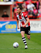 Jake Taylor (25) of Exeter City on the attack during the EFL Sky Bet League 2 match between Exeter City and Lincoln City at St James' Park, Exeter, England on 19 August 2017. Photo by Graham Hunt.