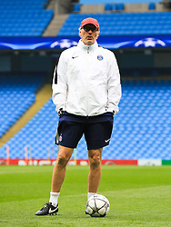 PSG Manager Laurent Blanc  - Mandatory byline: Matt McNulty/JMP - 07966386802 - 11/04/2016 - FOOTBALL - Manchester City v PSG - Etihad Stadium -Manchester,England - UEFA Champions League