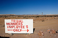 An odd sign out in the Mojave Desert.
