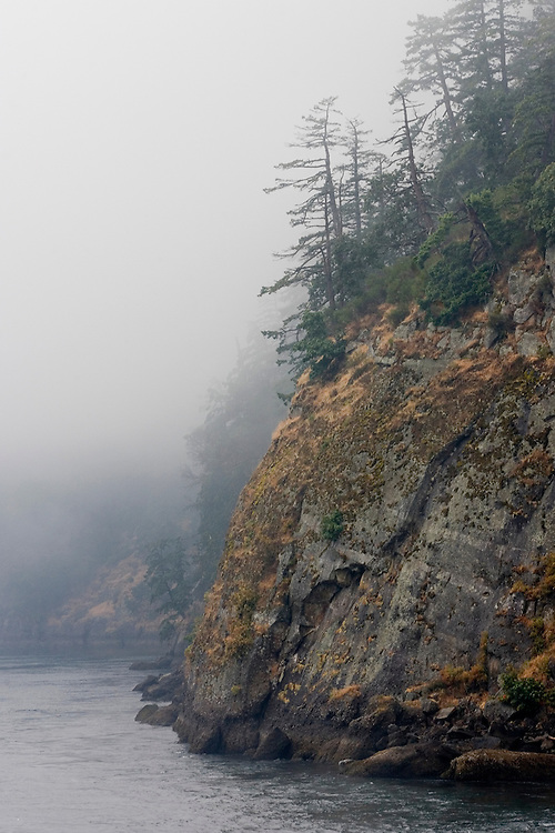 A foggy passage through British Columbia's Active Pass in the South Gulf Islands.