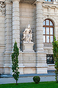 Statue representing Africa at Exterior of the Natural History Museum, Museum platz, Vienna, Austria