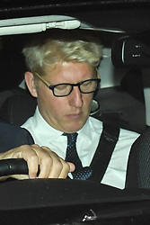 © Licensed to London News Pictures. 04/09/2019. London, UK. Joe Johnson MP, brother of the prime minister leaving Parliament late night. Johnson has resigned in the last last hour saying that he is torn between family loyalty and national interest. Photo credit: Guilhem Baker/LNP