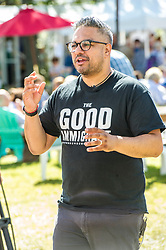 Pictured: Nikesh Shukla author of the Good Immigrant<br /> Book fanatics headed to Charlotte Square in Edinburgh which is the hub of the international Book Festival to meet the authors and also to meet up with fellow fans of the printed word.<br /> <br /> <br /> Ger Harley | EEm 14 August 2017