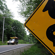 7/3/11 -- Rt 129 , Maine. A stretch of the road not often traveled. Spanning communities, classes and styles ~ of farmers and fishermen, retired and plugging, the elite and working waterfront. (This area has huge potential for great photojournalism).  Photo by Roger S. Duncan.