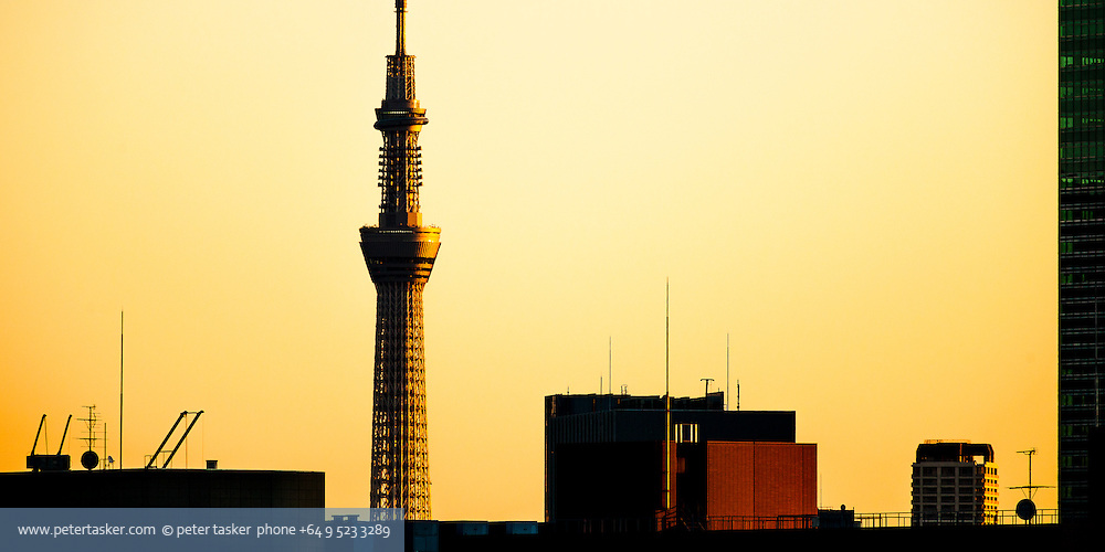 Tokyo architecture. Tokyo Skytree, the tallest tower, and second tallest structure in the world.