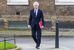 Downing Street, London, March 21st 2017. Secretary of State for Exiting the European Union David Davis attends the weekly cabinet meeting at 10 Downing Street.