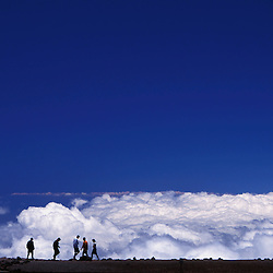 Above the clouds at the summit of Haleakala on the island of Maui.