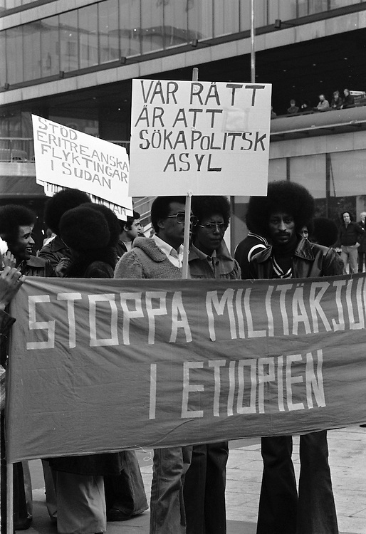 Demonstration för Eritrea