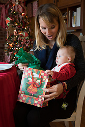 LOUISVILLE, Ky., -- Gemma Palmer and Winston Geerts celebrate their first Christmas, Monday, Dec. 25, 2017 at the Mimi's Mansion, Komis Kastle, Geerts Grotto in LOUISVILLE.