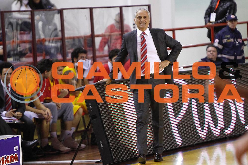 DESCRIZIONE : Barcellona Pozzo di Gotto Campionato Lega Basket A2 2011-12 Sigma Barcellona Tezenis Verona<br /> GIOCATORE : Cesare Pancotto<br /> SQUADRA : Sigma Barcellona<br /> EVENTO : Campionato Lega Basket A2 2011-2012<br /> GARA : Sigma Barcellona Tezenis Verona<br /> DATA : 26/02/2012<br /> CATEGORIA : Ritratto Head Coach<br /> SPORT : Pallacanestro <br /> AUTORE : Agenzia Ciamillo-Castoria/G.Pappalardo<br /> Galleria : Lega Basket A2 2011-2012 <br /> Fotonotizia : Barcellona Pozzo di Gotto Campionato Lega Basket A2 2011-12 Sigma Barcellona Tezenis Verona<br /> Predefinita :