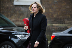 London, UK. 15th January, 2019. Amber Rudd MP, Secretary of State for Work and Pensions, arrives at 10 Downing Street for a Cabinet meeting on the day of the vote in the House of Commons on Prime Minister Theresa May's proposed final Brexit withdrawal agreement.