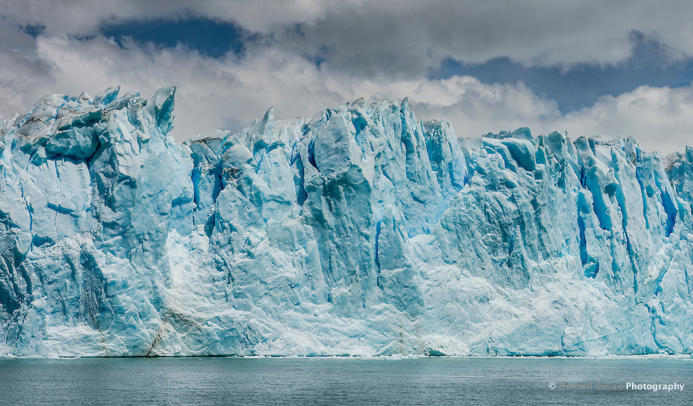 The Walls of the massive Perito Moreno Glaciar in Los Glaciares National Park, Argentina.