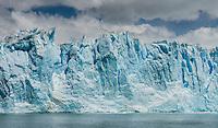 The Walls of the massive Perito Moreno Glaciar in Los Glaciares National Park, Argentina.