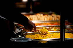 Food being served in hospitality in the Lansdown Restaurant at Ashton Gate Stadium - Mandatory by-line: Dougie Allward/JMP - 18/10/2019 - RUGBY - Ashton Gate - Bristol, England - Bristol Bears v Bath Rugby - Gallagher Premiership Rugby