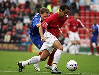 Photo: Rich Eaton.<br /> <br /> Bristol City v Crewe Alexander. Coca Cola League 1. 14/10/2006. Bristol goalscorer Scott Murray right