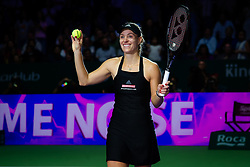 October 24, 2018 - SINGAPORE - Angelique Kerber of Germany celebrates winning her second match at the 2018 WTA Finals tennis tournament (Credit Image: © AFP7 via ZUMA Wire)