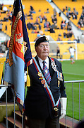 Remembrance Sunday  during the Sky Bet Championship match between Wolverhampton Wanderers and Burnley at Molineux, Wolverhampton, England on 7 November 2015. Photo by Alan Franklin.