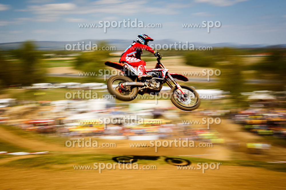 Tim Gajser of Slovenia #243 during motocross race for Slovenian national championship in Prilipe, Brezice, Slovenija on 9th of April, 2017, Slovenia. Photo by Grega Valancic / Sportida