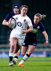 Katy Daley-Mclean of England Women goes past Jenny Maxwell of Scotland Women - Mandatory by-line: Robbie Stephenson/JMP - 16/03/2019 - RUGBY - Twickenham Stadium - London, England - England Women v Scotland Women - Women's Six Nations