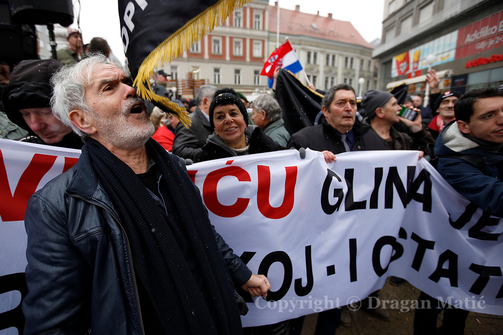 The protest against the visit of Serbian President Aleksandar Vucic
