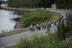 FDJ Nouvelle Aquitaine Futuroscope at Ladies Tour of Norway 2018 Team Time Trial, a 24 km team time trial from Aremark to Halden, Norway on August 16, 2018. Photo by Sean Robinson/velofocus.com