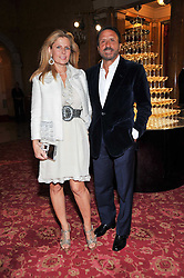 The HON.SIR ROCCO & LADY FORTE at a party to celebrate 300 years of Tatler magazine held at Lancaster House, London on 14th October 2009.