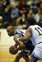 Basketball, 15. januar 2003, BLNO, Kongsberg - Kristiansand 107-74. Darnell McCulloch , Penguins