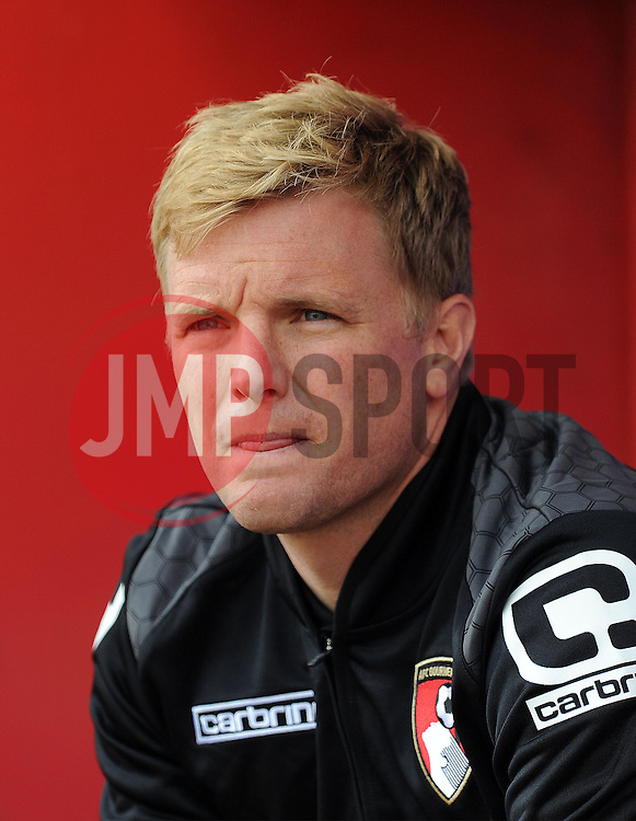 Bournemouth's Manager Eddie Howe. - Photo mandatory by-line: Harry Trump/JMP - Mobile: 07966 386802 - 18/07/15 - SPORT - FOOTBALL - Pre Season Fixture - Exeter City v Bournemouth - St James Park, Exeter, England.
