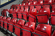 Section of Moss Rose stadium Fan seats out of use. EFL Sky Bet League 2 match between Macclesfield Town and Crewe Alexandra at Moss Rose, Macclesfield, United Kingdom on 21 January 2020.