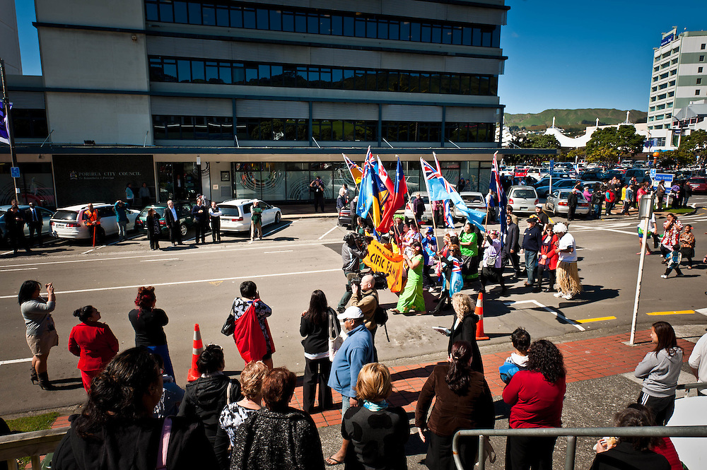 Strong Pacific Families March, September 12, 2011. Porirua Central Business District.