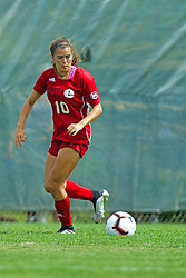 NORMAL, IL - August 10:  Becca Jostes during a nonconference exhibition women's soccer match between the Southern Illinois Edwardsville Cougars and the Illinois State Redbirds August 10 2019 on Adelaide Street Field in Normal IL (Photo by Alan Look)
