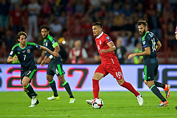 BELGRADE, SERBIA - Sunday, June 11, 2017: Serbia's Dusan Tadic during the 2018 FIFA World Cup Qualifying Group D match between Wales and Serbia at the Red Star Stadium. (Pic by David Rawcliffe/Propaganda)