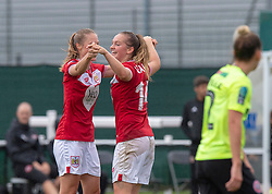 Lucy Graham of Bristol City celebrates her equaliser - Mandatory by-line: Paul Knight/JMP - 26/08/2018 - FOOTBALL - Stoke Gifford Stadium - Bristol, England - Bristol City Women v Sheffield United Women - Continental Tyres Cup