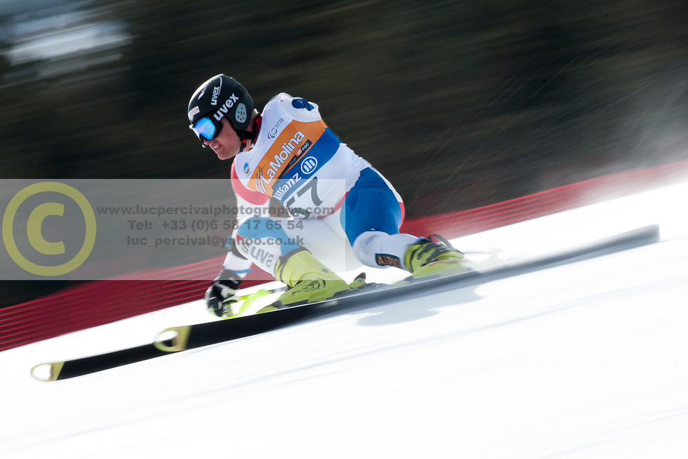 BRODARD Christophe, SUI, Super Combined, 2013 IPC Alpine Skiing World Championships, La Molina, Spain