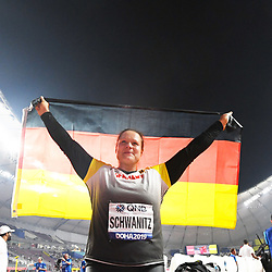 Doha, IAAF, Leichtathletik, athletics, Track and Field, World athletics Championships 2019  Doha, Leichtathletik WM 2019 Doha, 27.09-06.10.2019, .Khalifa International Stadium Doha, Kugelstossen Frauen, Christina Schwanitz  Deutschland, Fotocopyright Gladys Chai von  der Laage ..Photo by Icon Sport - Christina SCHWANITZ - Khalifa International Stadium - Doha (Qatar)