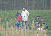 Hazewinkel, BELGIUM,  Old friends meet at the Bloso,{L} GBR Chief Coach, Jurgen GROBLER and {R} Belgium Chief Coach Harld JARLING chatting during the  Sunday Morning Time Trial at the GB Rowing Senior Trials at the Blose Rowing Centre.  Sunday 12.04.2009 [Mandatory Credit. Peter Spurrier/Intersport Images]