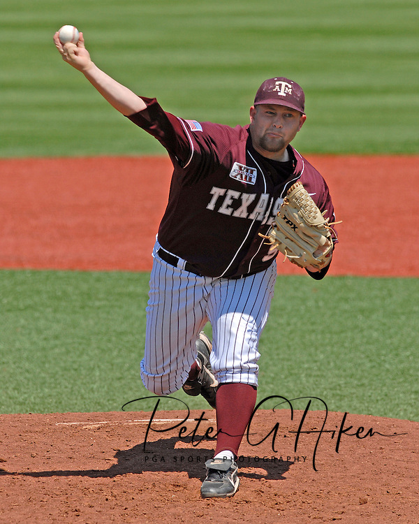 Texas A&M pitcher Kiel Renfro came in for relief for the Aggies against Kansas State at Tointon Stadium in  Manhattan, Kansas, May 13, 2007.  K-State defeated the 11th ranked Aggies 11-6.