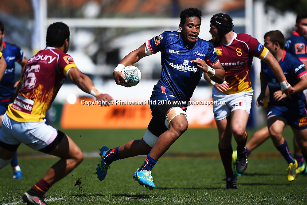Tasman player Shannon Frizell during the the Mitre 10 Cup match Tasman v Southland at Trafalgar Park, Nelson, New Zealand. Sunday 16 October 2016. ©Copyright Photo: Chris Symes / www.photosport.nz