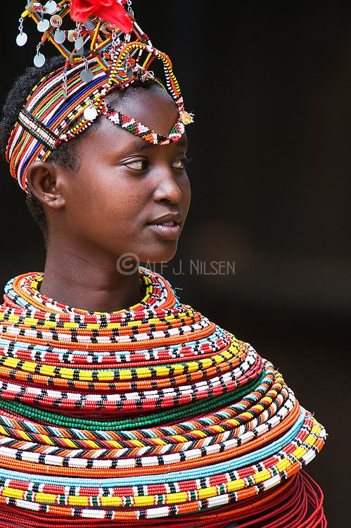 Woman from the Samburu Tribe, Kenya.