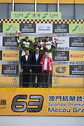 November 16-20, 2016: Macau Grand Prix. 8 Laurens VANTHOOR, Audi Sport Team WRT, Audi R8 LMS, 911 Earl BAMBER, Manthey Racing, Porsche 911 GT3R, 912 Kévin ESTRE, Manthey Racing, Porsche 911 GT3R
