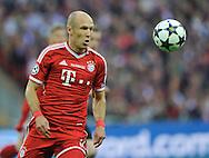 UEFA Champions League final football match between Borussia Dortmund and Bayern Munich at Wembley Stadium in London on May 25, 2013, Bayern Munich won the game 2-1 <br />Arjen Robben of Bayern Munich<br />(Photo by: Piotr Hawalej)