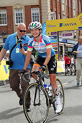© Licenced to London 19/06/2016<br /> Northampton .UK. Contender Marianne Voss approaches the line for the start of final stage of the Aviva Women's Tour. Photo credit Steven Prouse/LNP