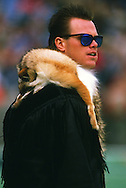 CHICAGO,IL-1985:  NFL quarterback Jim McMahon of the Chicago Bears looks on from the sidelines during an NFL game at Soldier Field in Chicago Illinois.  McMahon played for the Chicago Bears from 1982-1988.  (Photo by Ron Vesely)