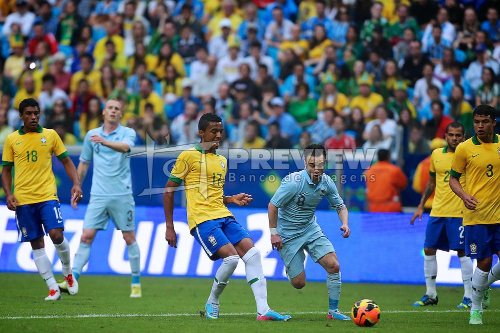 Amistoso entre Brasil e França no estádio Arena do Grêmio, em Porto Alegre (RS). FOTO: Jefferson Bernardes/Preview.com