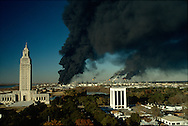 State Capitol and Exxon Refinery Explosion, Baton Rouge, LA 12/24/1989.<br />